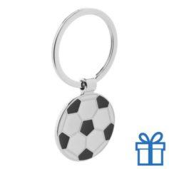 Sleutelhanger metaal voetbal geschenk bedrukken