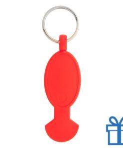 Sleutelhanger plastic opener rood bedrukken
