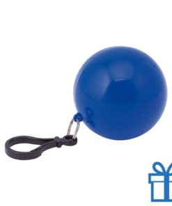 Sleutelhanger poncho blauw bedrukken