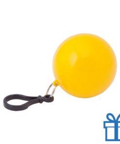 Sleutelhanger poncho geel bedrukken