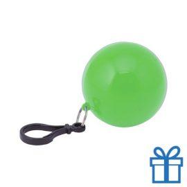 Sleutelhanger poncho groen bedrukken