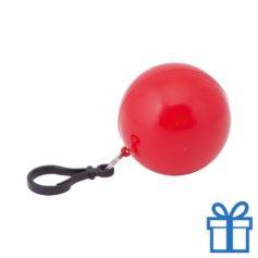 Sleutelhanger poncho rood bedrukken