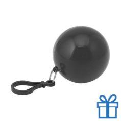 Sleutelhanger poncho zwart bedrukken
