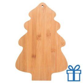 Snijplank bamboe kerstboom vorm bedrukken