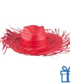 Sombrero rood bedrukken