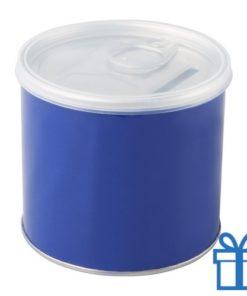 Spaarpot blik blauw bedrukken