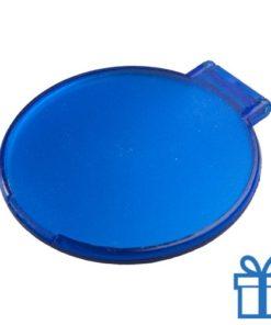 Spiegeltje rond blauw bedrukken