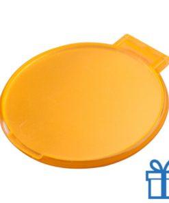 Spiegeltje rond oranje bedrukken