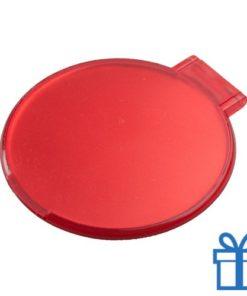 Spiegeltje rond rood bedrukken