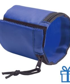 Sport polsband portemonnee blauw bedrukken