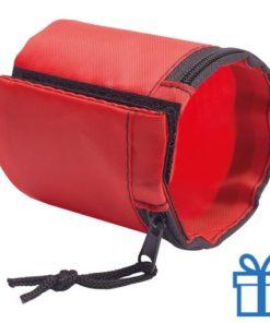 Sport polsband portemonnee rood bedrukken