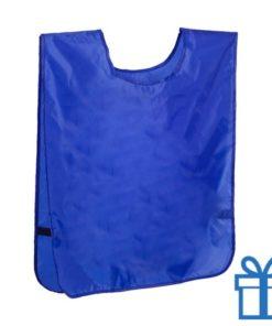 Sport vestje neon blauw bedrukken