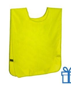 Sport vestje neon geel bedrukken