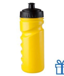 Sportfles bidon goedkoop 500ml geel bedrukken
