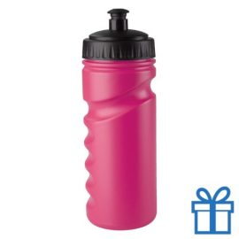 Sportfles bidon goedkoop 500ml roze bedrukken