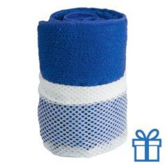 Sporthanddoek blauw bedrukken