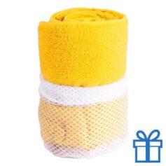 Sporthanddoek geel bedrukken