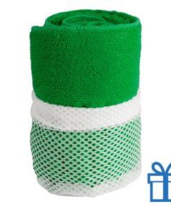 Sporthanddoek groen bedrukken