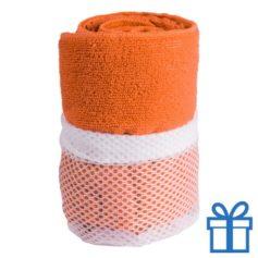 Sporthanddoek oranje bedrukken