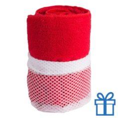Sporthanddoek rood bedrukken