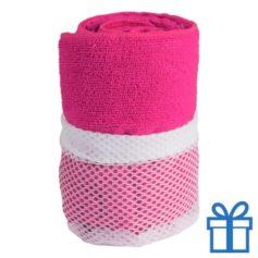 Sporthanddoek roze bedrukken