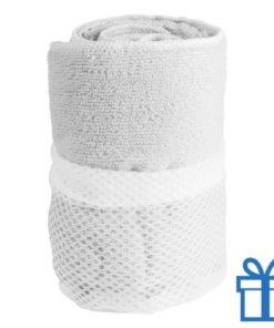 Sporthanddoek wit bedrukken