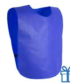 Sportvest hesje blauw bedrukken