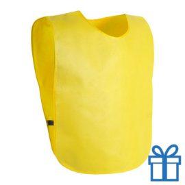 Sportvest hesje geel bedrukken