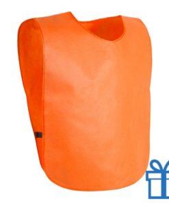Sportvest hesje oranje bedrukken