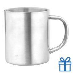 Stainless steel mok zilver bedrukken