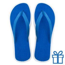 Strand slippers EVA blauw V bedrukken