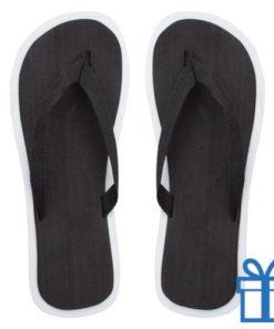 Strand slippers EVA zwart M bedrukken