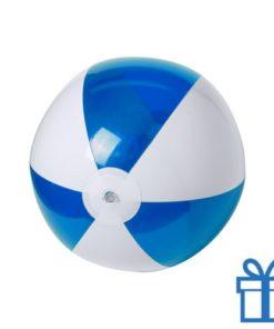 Strandbal budget wit blauw bedrukken
