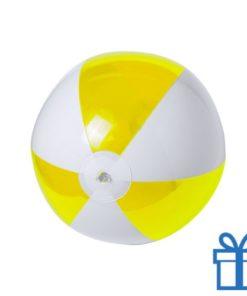 Strandbal budget wit geel bedrukken