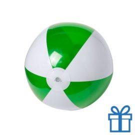Strandbal budget wit groen bedrukken