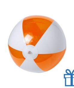 Strandbal budget wit oranje bedrukken