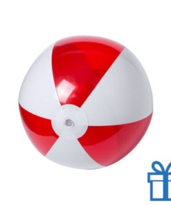 Strandbal budget wit rood bedrukken