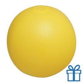 Strandbal goedkoop geel bedrukken