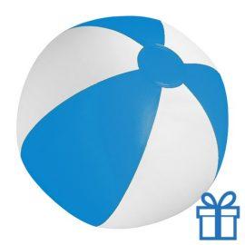 Strandbal goedkoop wit blauw blauw bedrukken