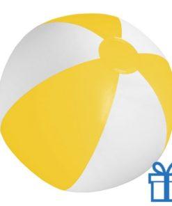 Strandbal goedkoop wit geel geel bedrukken