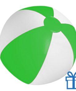 Strandbal goedkoop wit groen bedrukken