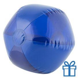Strandbal transparant blauw bedrukken