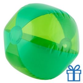 Strandbal transparant groen bedrukken