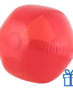 Strandbal transparant rood bedrukken