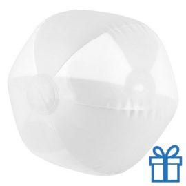 Strandbal transparant wit bedrukken