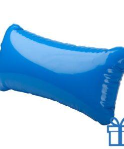 Strandkussen klein blauw bedrukken