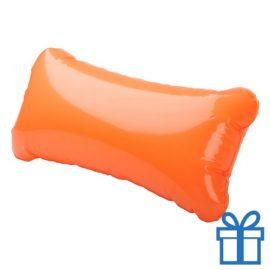 Strandkussen klein oranje bedrukken
