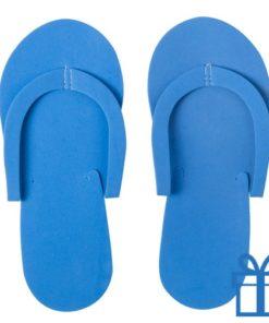 Strandslipper opvouwbaar blauw bedrukken