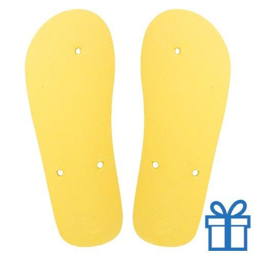 Strandslippers op maat 42-44 geel bedrukken