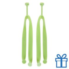 Strandslippers straps op maat 42-44 groen bedrukken